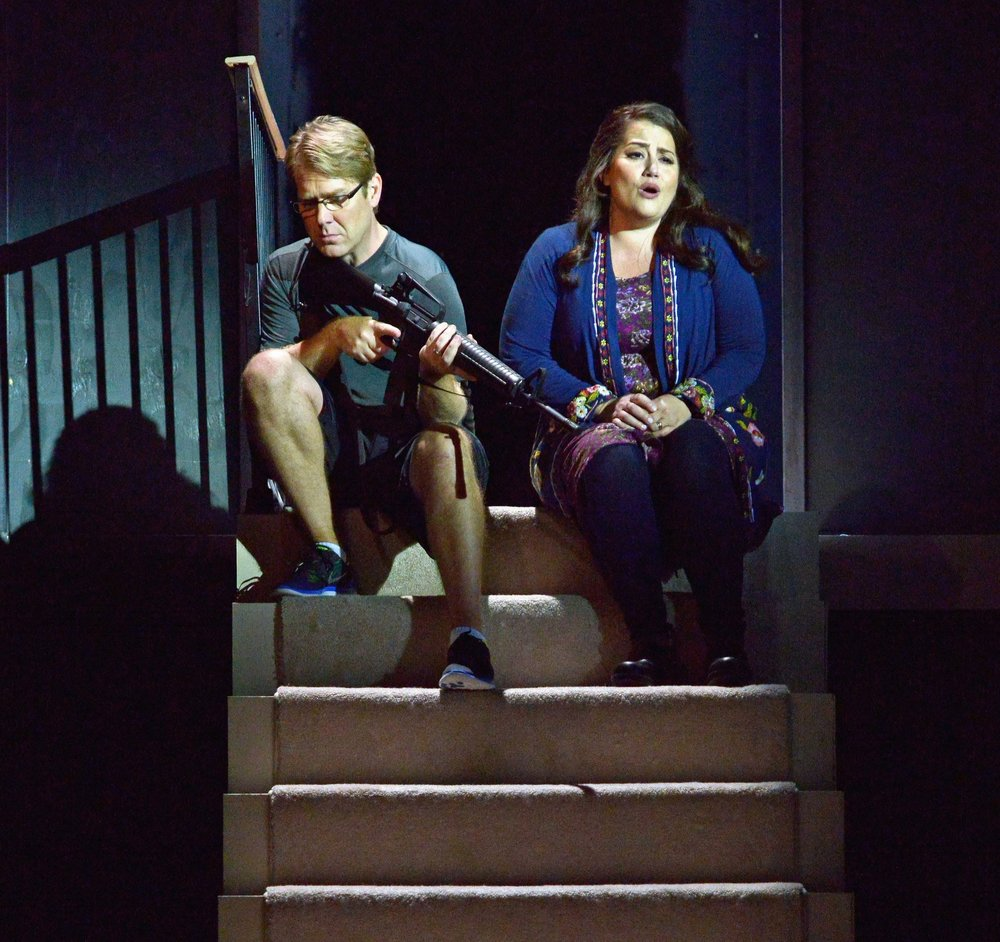 Daniel Belcher & Heather Johnson in THE LONG WALK; photo: Gary David Gold