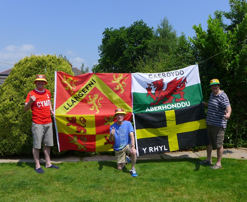 Gafyn and his fire proofed flags