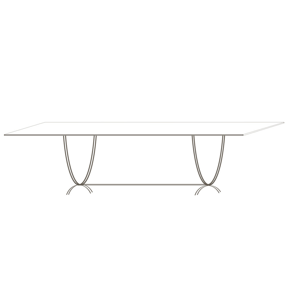"Newcastle Table 96   96"" W x 40"" D x 30"" H  Starts at $4,275.00"