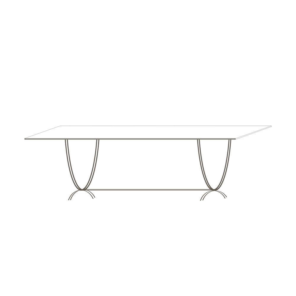 "Newcastle Table 72 72"" L x 40"" D x 30"" H Starts at $3,475.00"