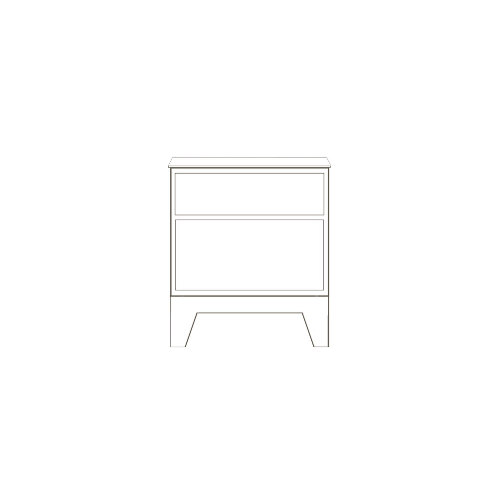 """Oslo Nightstand 20"""" W x 18"""" D x 22"""" H Starts at $1,440.0"""