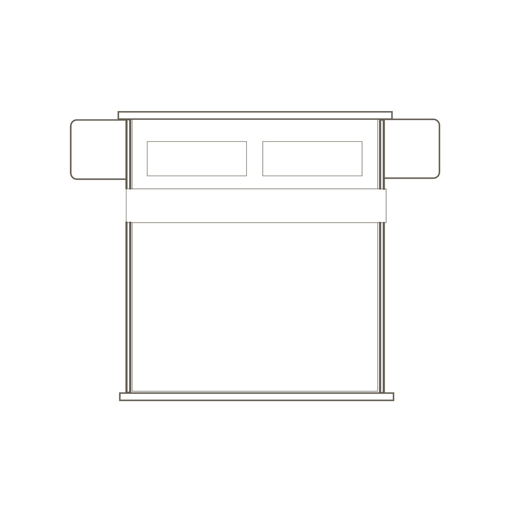 """Oslo Kig Nightstand Bed 110"""" W x 87.5"""" L x 41.5"""" H Starts at $5,590.00"""