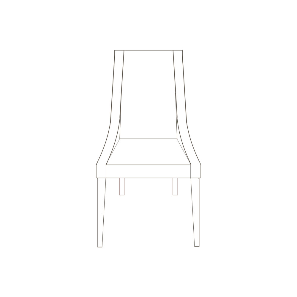 "Bridgepoint Chair  24"" W x 24"" D x 40"" H, 18"" SH, 20"" SD Starts at $825.00"