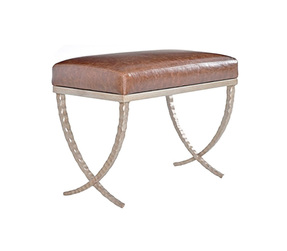 custom_american_quality_furniture_northern virginia_metal_leather_stool_otoman