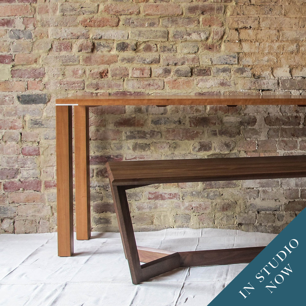 Our built-by-the-inch Vitruvian table is a designer dream, available as anything from coffee table to kitchen island.