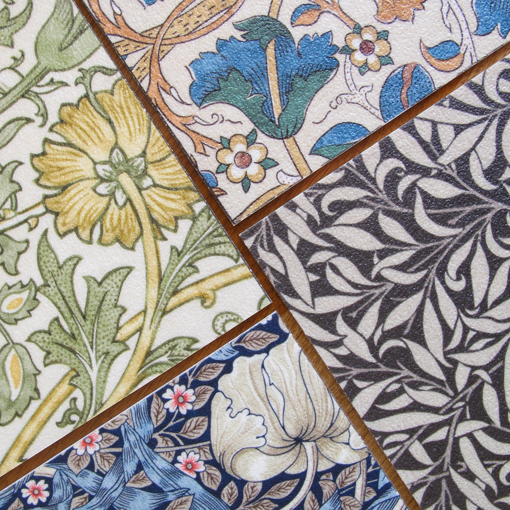 Our popular vinyl floor cloths continue to inspire me, this year with licensed reproductions of William Morris designs.