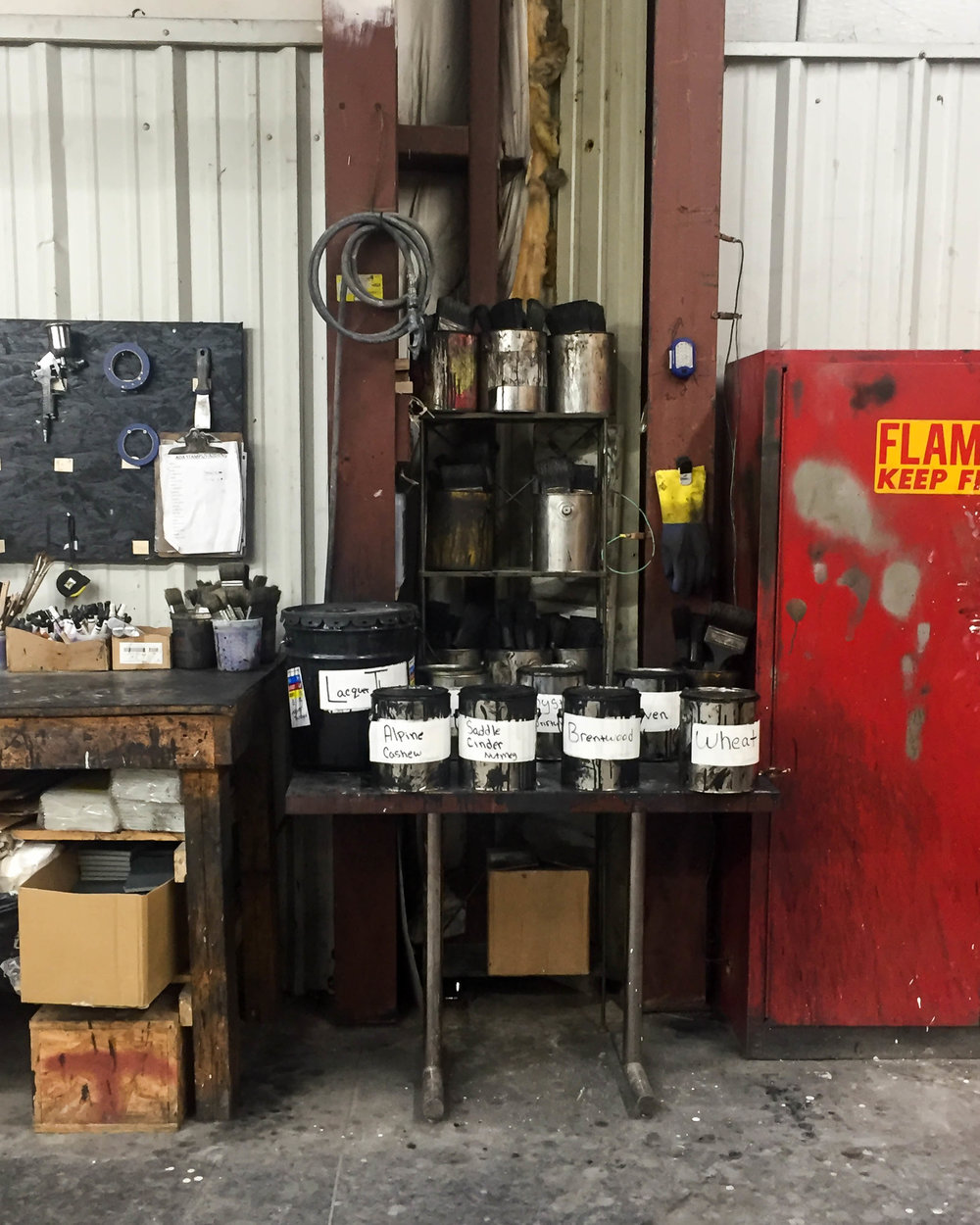 Artisan workspace, american furniture factory, North Carolina