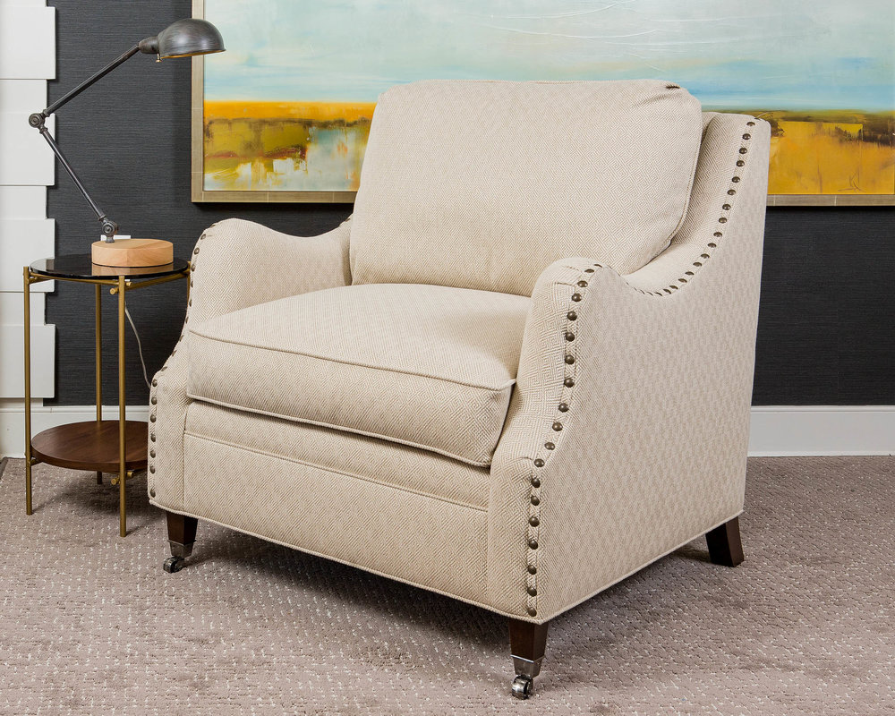The customizable Taylor frame can be ordered in a chair, loveseat, sofa, or various sectional arrangements.