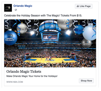 Orlando Magic Facebook Ad