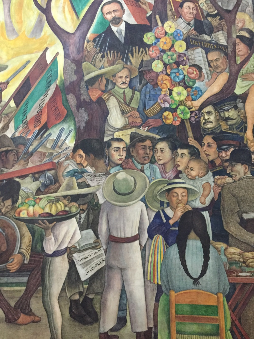 Right portion of mural