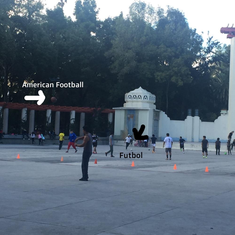 American football and futbol!