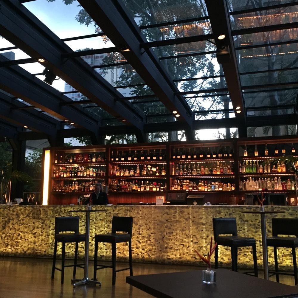 Pretty cool lobby bar, decent food