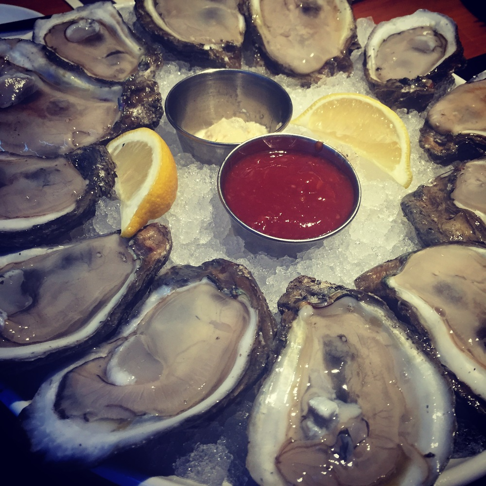 Big, fatty, delicious oysters (available pretty much everywhere, pictured at Trenasse)