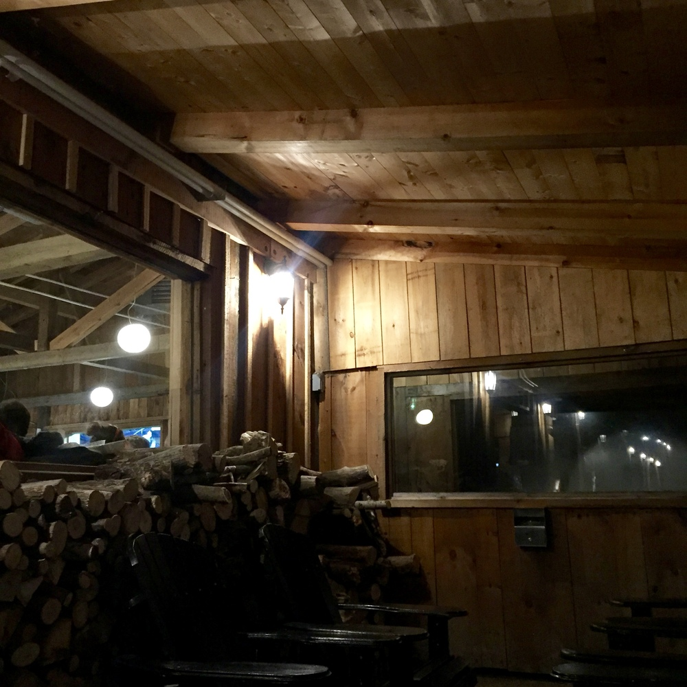 Cabane = shack...in this case a super cozy cabin of stomach destruction