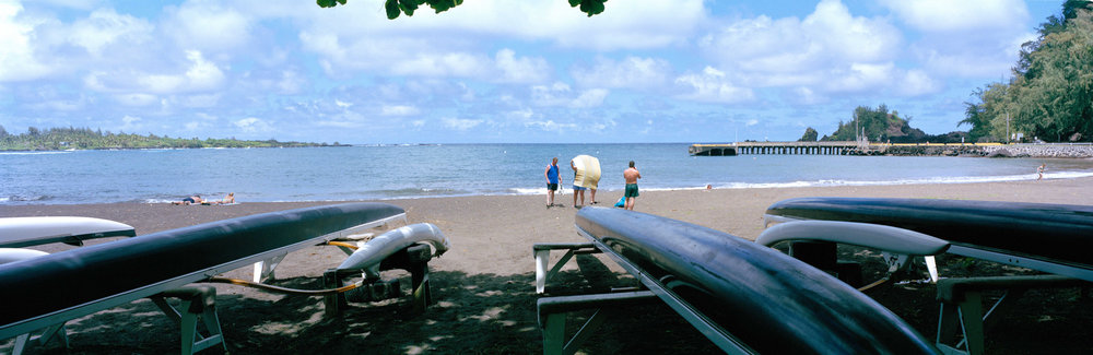 Beach Mat Tussle, Hana, Hawaii, 2003