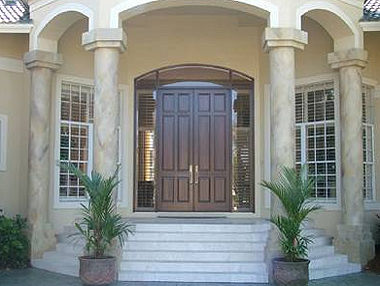 Faux Wood Door, Naples Gulf Shore