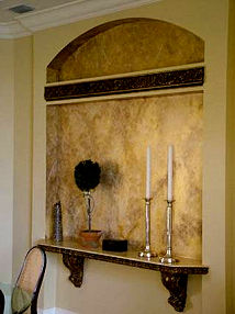 Gold Faux Stone Finish