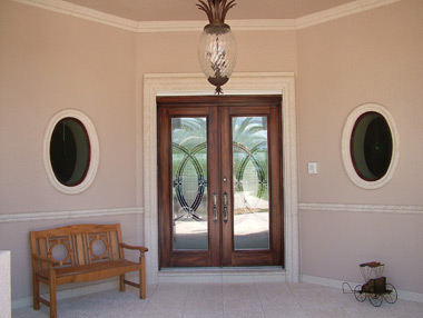 Faux Wood Entry Door