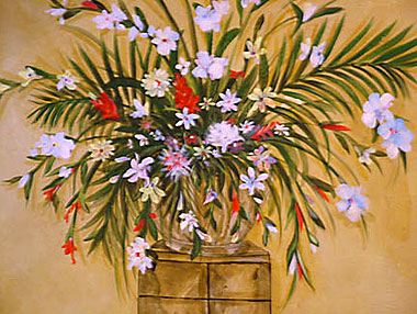 Hand Painted Flowers In Naples Fl Foyer