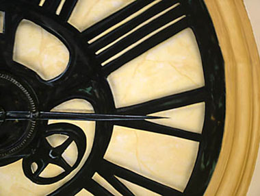 Trompe L'oeil Hand Painted Clock
