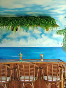 Tiki Bar Beach Mural in Bonita Springs