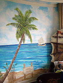 Treasure Island Beach in Kids Room