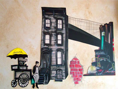 New York Themed Mural