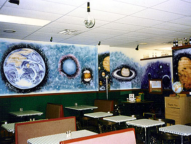 Pizza Restaurant Mural