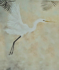 Flying Egret Mural