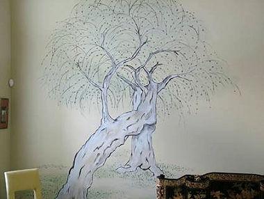 Asian Tree Mural