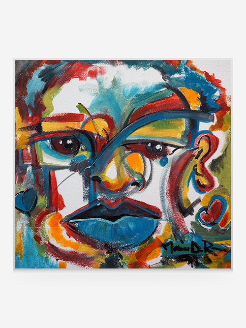 "Rouse Art 30x30 ""Red Eye's Blue Tear""2007"