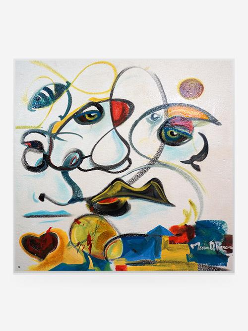 """Rouse Art """"Cow&Birds""""30x30 """" 2007"""