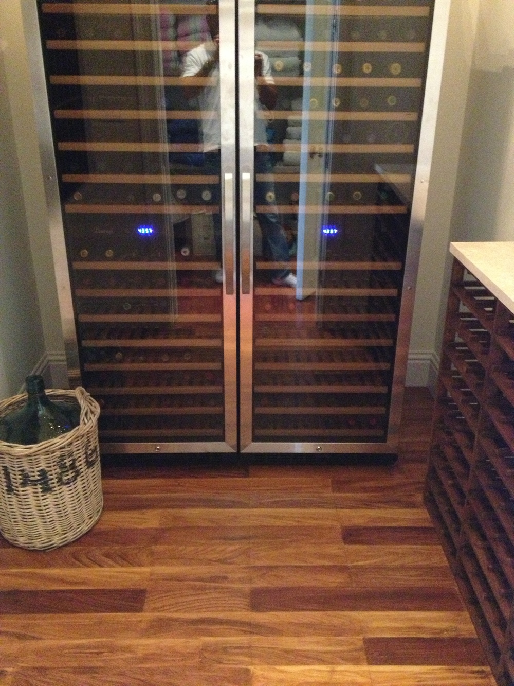 Wine Room  Faux Wood Floor Planks