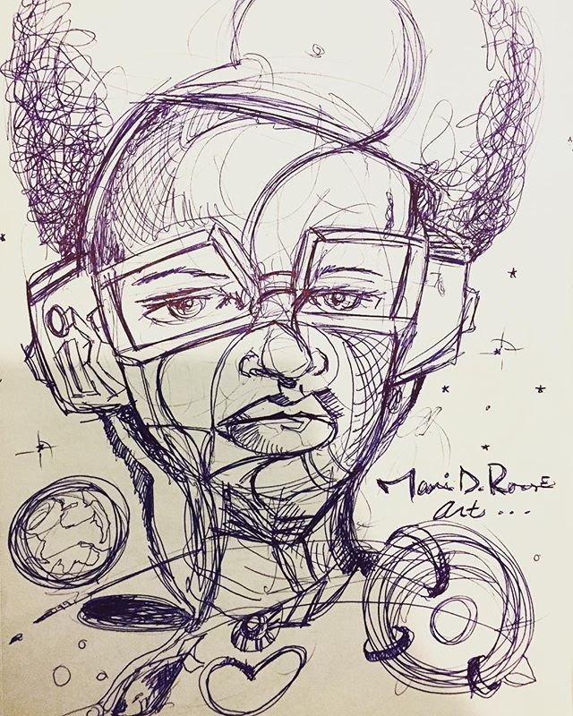 """Kosmix"" ©2010-2017 #marvindrouse #penart #imagination #pen&pad #naplesartist #art #creativity #Arts #newyorkcity #wynwoodartsdistrict #rouseart #artcollector #blessed🙏"