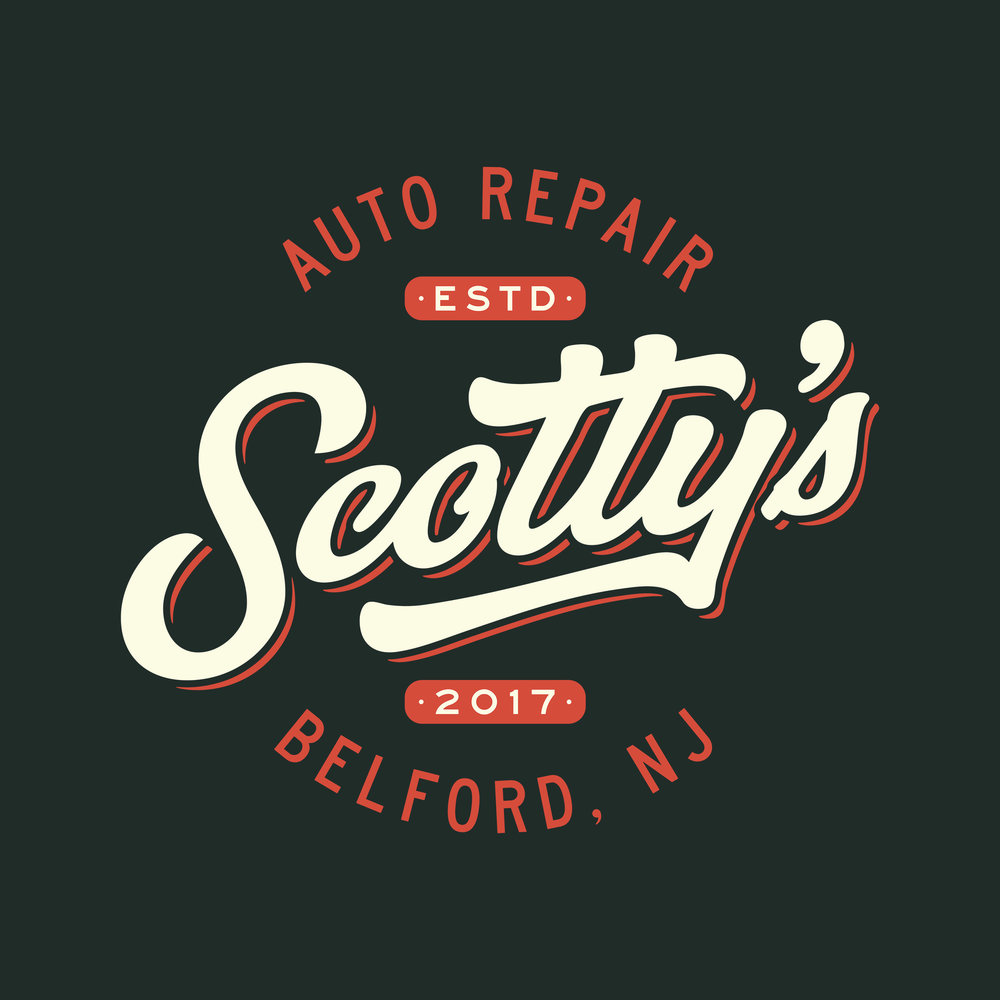 SCOTTY's AUTO REPAIR - EMBLEM LOGOAUTO REPAIR SHOPBELFORD, NEW JERSEY