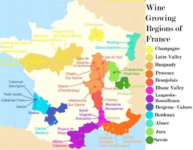 Source: forgetburgundy.com Different Wine Producing Regions in France
