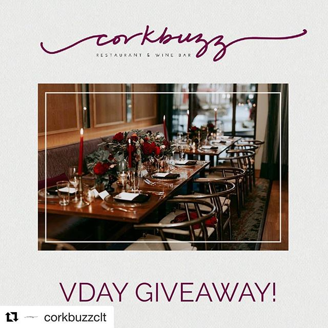 Hoping for a fun date night with my boo ❤️, but if you're in the Charlotte area, you should enter, too! I just mentioned yesterday it was my favorite spot in Charlotte!  #Repost @corkbuzzclt ・・・ We're giving away a Valentine's Dinner + Wine Pairing for you and that special someone. To Enter: 1)Like this post 2) Tag your sweetie  3) Repost this post on your page & tag us! 4) Make sure your sweetie is following our instagram @corkbuzzclt  Winner will be announced on our IG Story, Monday @ 2pm.