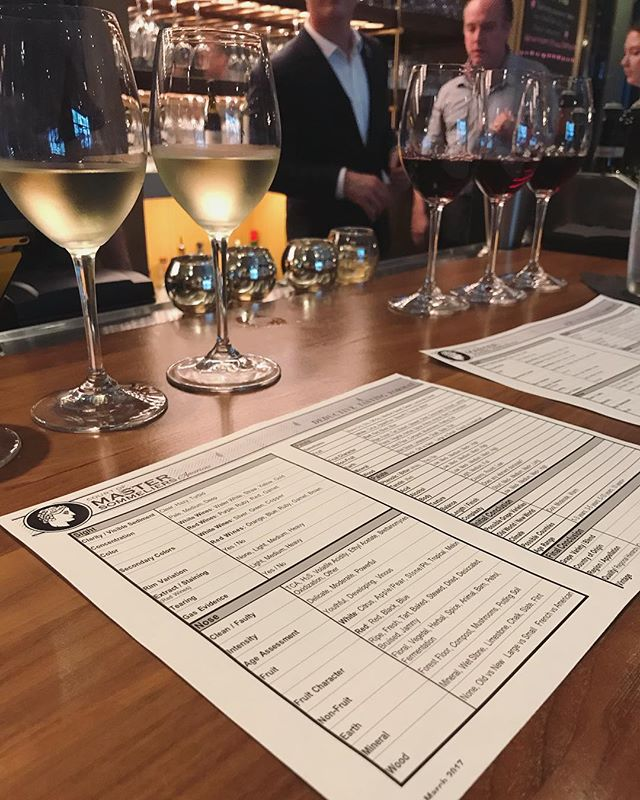Trying out the new blind tasting flights at @corkbuzzclt! It's a lot of fun to test out my knowledge, but let's just say I need to practice my reds more 😉
