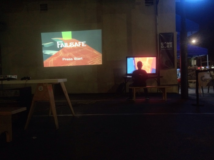 Failsafe projected at the Giant Robot Game Night