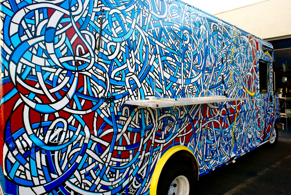"Chef Driven's ""Get Sauced"" Food Truck Mobile Mural Commission, Mpls, MN, 2012"