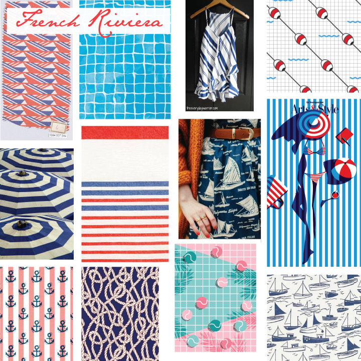 French Riviera Moodboard