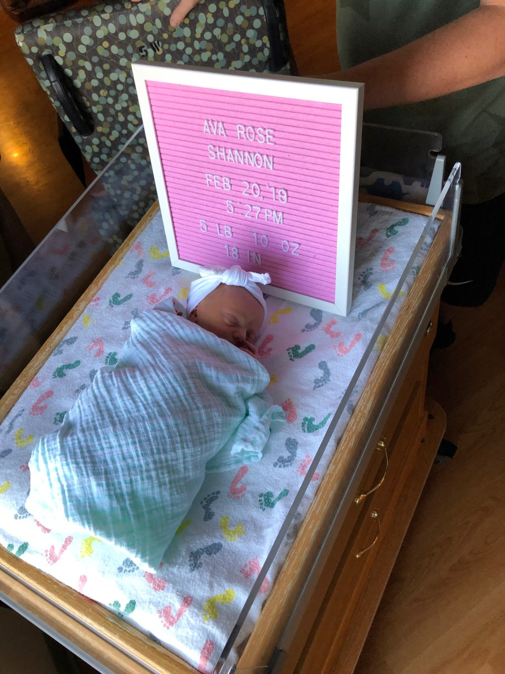 This was the day after she was born…