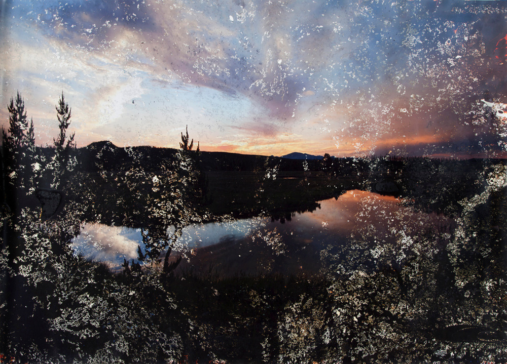 Matthew Brandt, Gibbon Lake, WY, 2012, c-print soaked in Gibbon Lake water