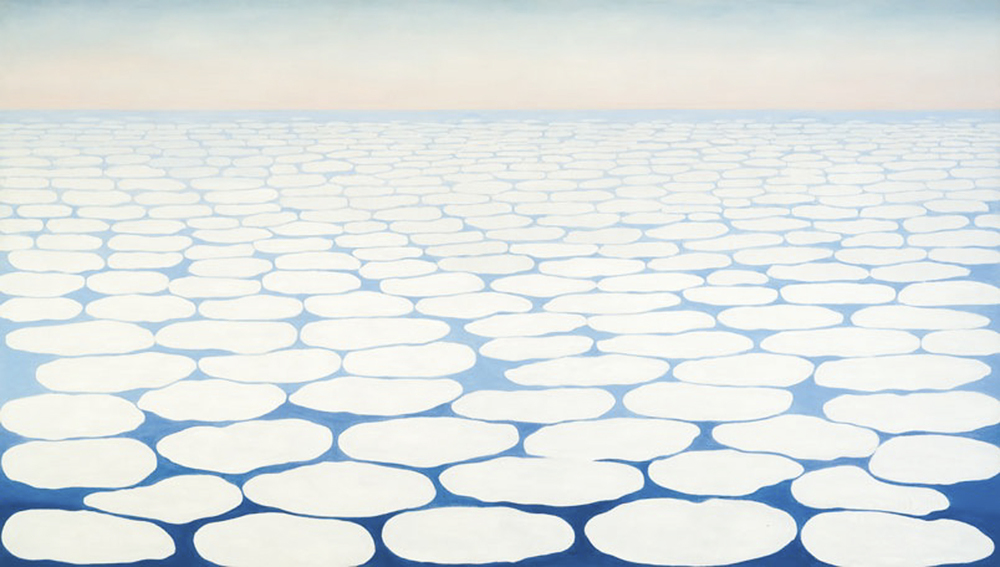 Georgia O'Keeffe, Sky Above Clouds IV, 1965, oil on canvas