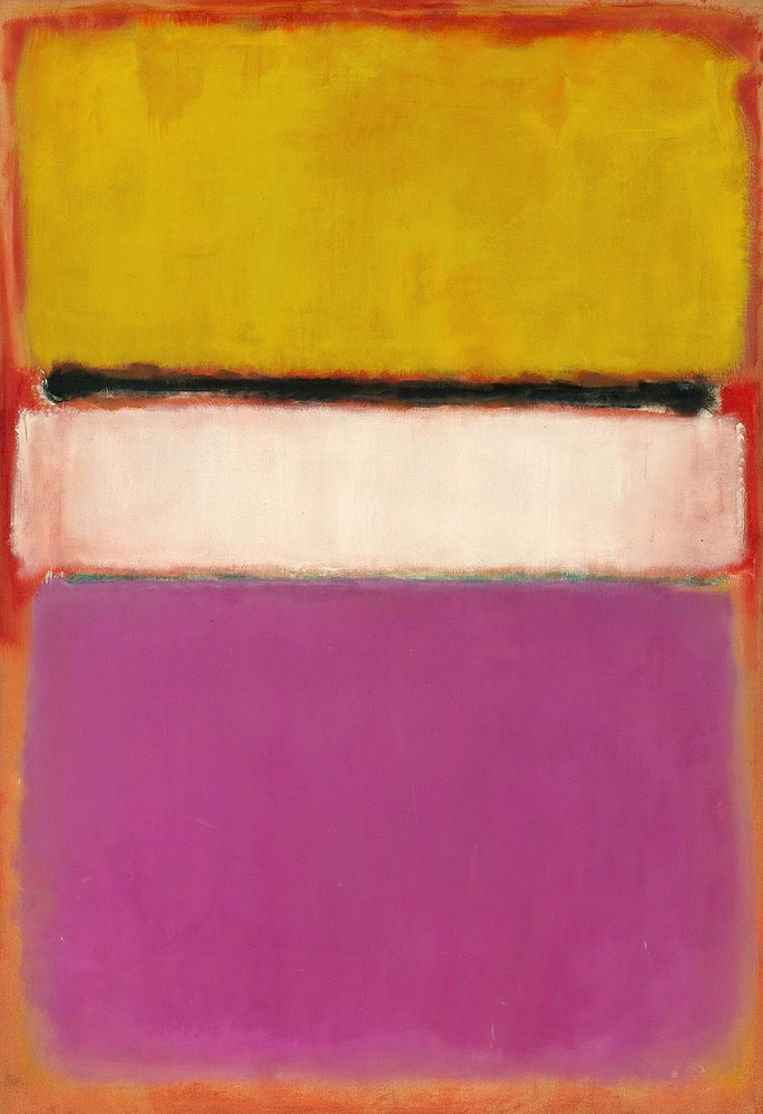 Mark Rothko, White Center (Yellow, Pink and Lavender on Rose), 1950, oil on canvas
