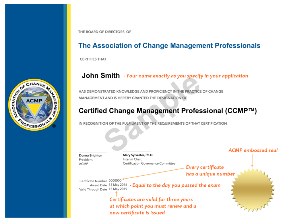 CCMP Certificate