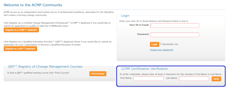 Graduated Once, Certified Forever? The Registry Knows... — My CCMP