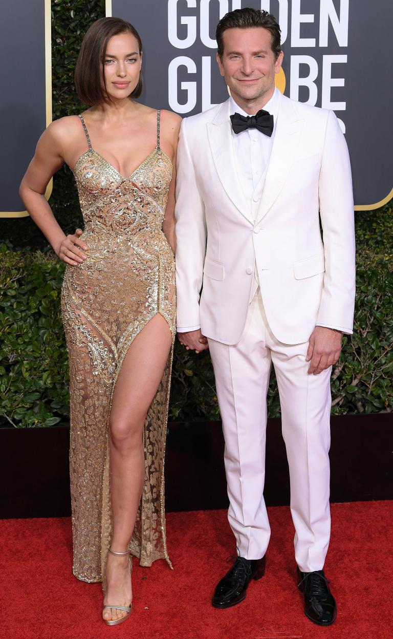 Irina Shayk in  Atelier Versace and Bradley Cooper in