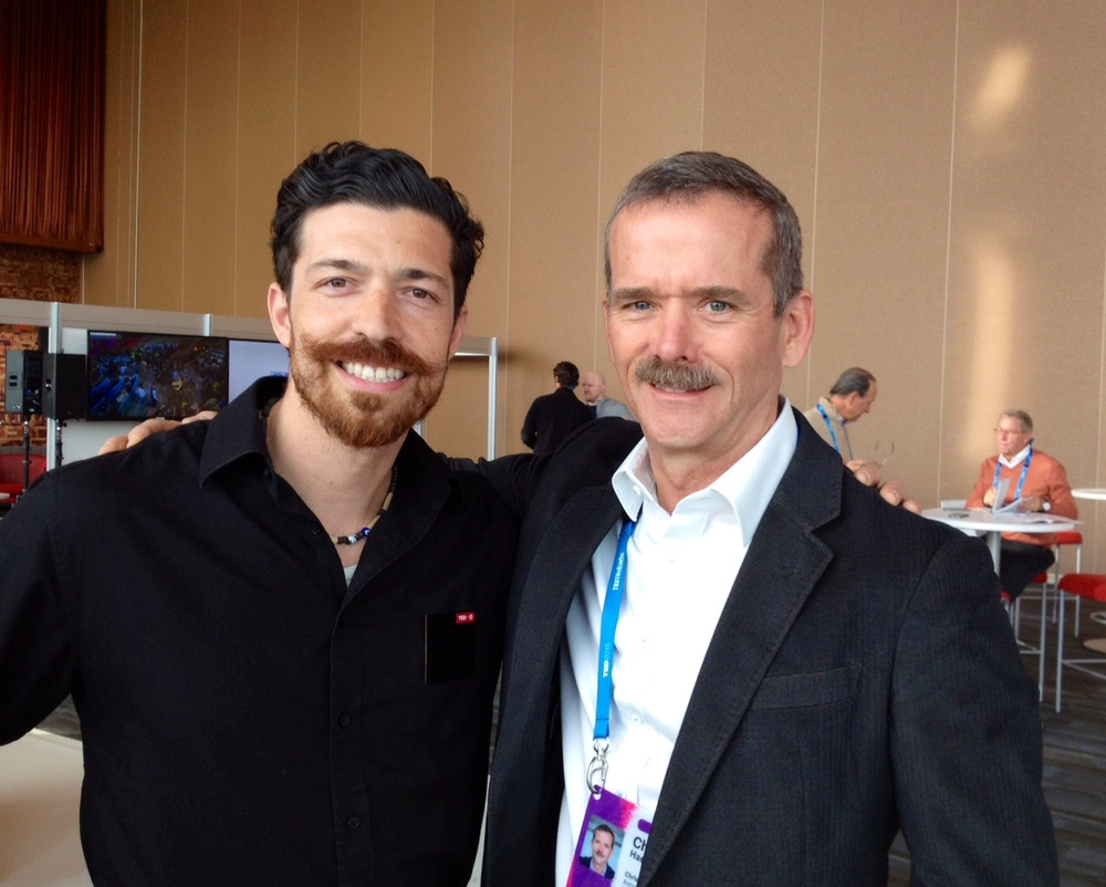 with Commander Chris Hadfield at TED 2015
