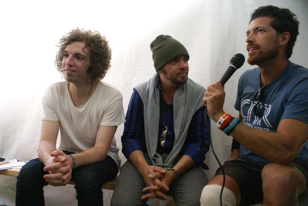 with Steve Bays and Hawksley Workman of Mounties @ Rifflandia 2013